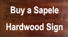 Buy a Sapele Hardwood Sign
